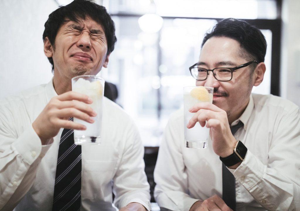 drinking sake together