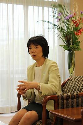 "Machiko Miyai, Director of Corporate Environmental Affairs Division at Panasonic, insists that ""The environment has no borders."""