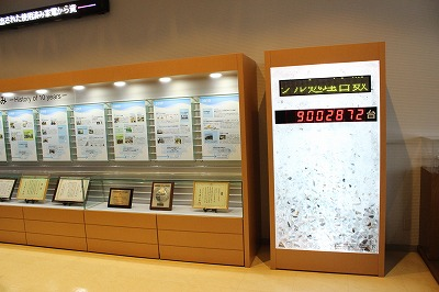 The display indicates the number of recycled appliances