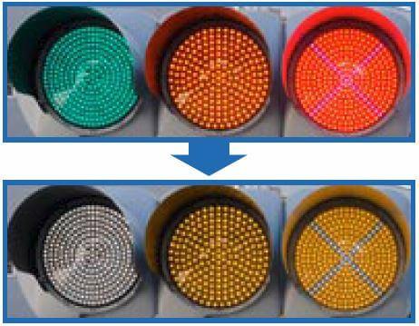 traffic lights for color blind
