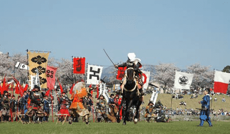 Annual Uesugi Festival reproducing an ancient battle