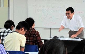 Professor Kitajima teaches MJIIT students passionately.