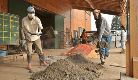 Making bokashi, quick compost