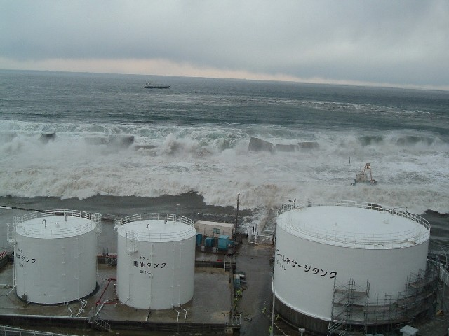 The moment before the tsunami hit the nuclear facility on March 11, 2011