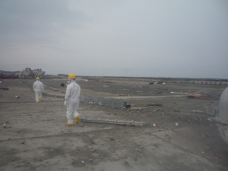 The diesel generators and other equipments were washed away. (The photo taken on March 22, 2013)