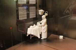 A 3D miniature of the painting created by 3D printer