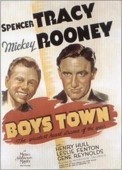 『Boys Town』の映画ポスター。アカデミー賞も二部門で受賞した。