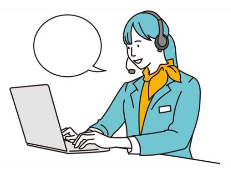 Customer service desk in Japan