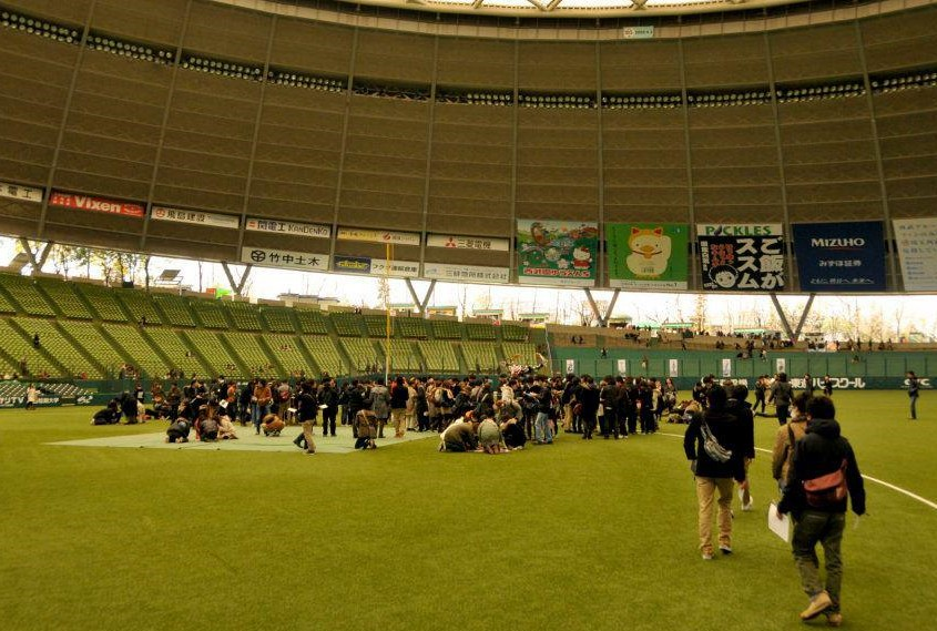 A big stadium can be a venue for the real escape game.