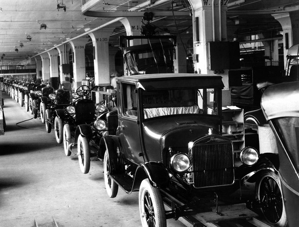 """Model T production is a good example of """"Empowering Innovations""""."""
