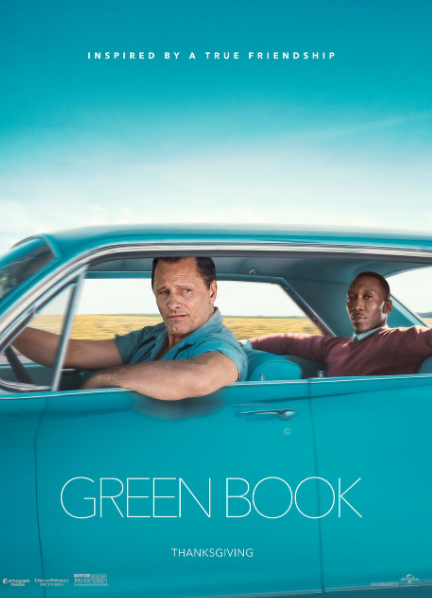 """""""Green Book"""" depicting the friendship between a white man and a black man"""